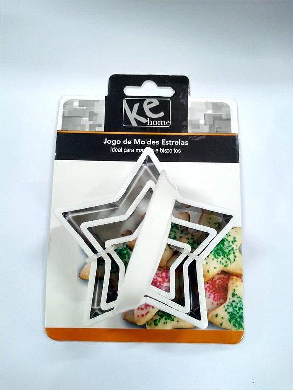 Kit Cortador de Estrela 3 pç KE Home  Rizzo Confeitaria