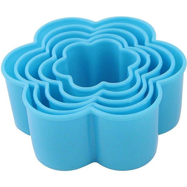 Kit Forminhas Plástica Flores 5 pç Clink Rizzo Confeitaria