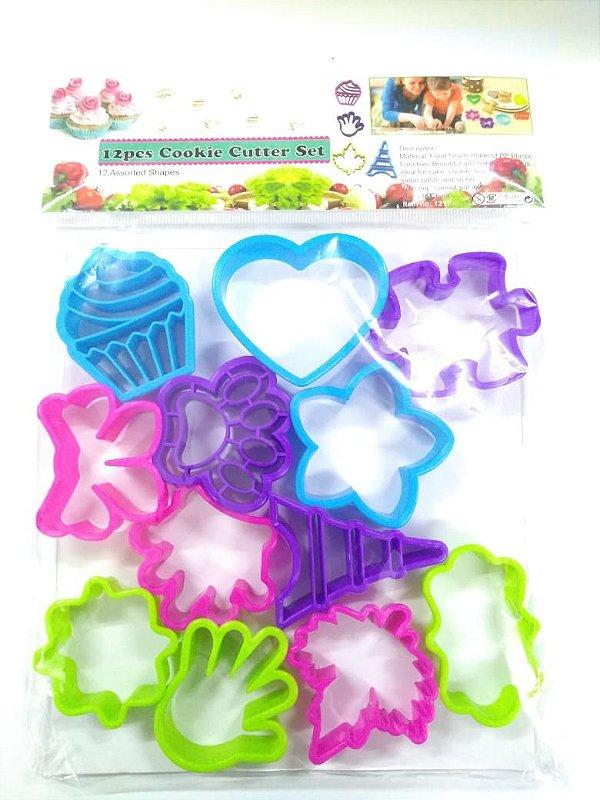 Kit Cortadores Variado 12 pç Cookie Cutter Rizzo Confeitaria