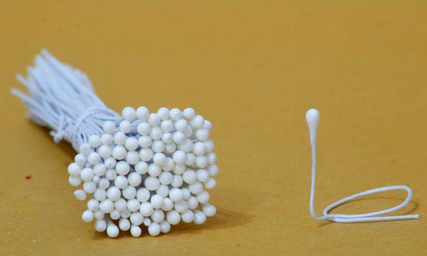 Pistilo Mini Branco Fosco com 100 un. Primor Rizzo Confeitaria
