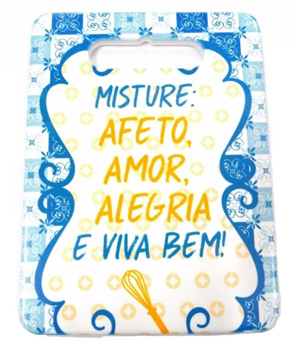 Enfeite de Cerâmica Frases Mod.4 BM36 Rizzo Confeitaria