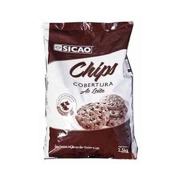 Cobertura Ao Leite Chips 2,5 kg Sicao Rizzo Confeitaria