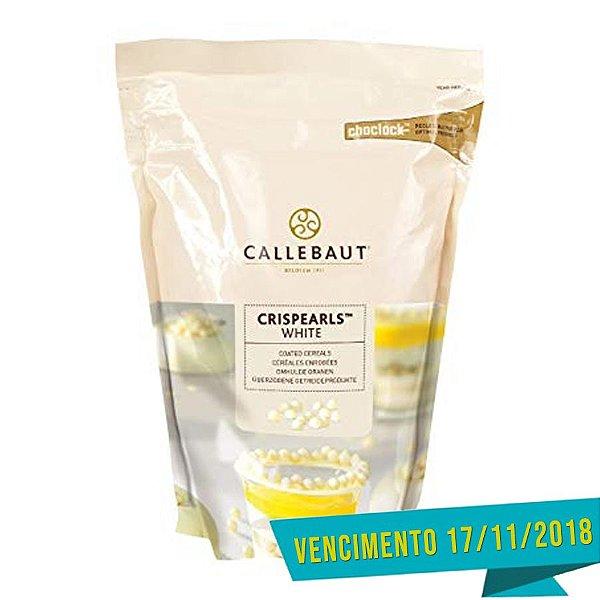 Crispearls Branco 800g Callebaut Rizzo Confeitaria