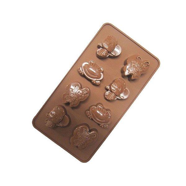 Forma Silicone para Chocolate Floresta Prime Chef Rizzo Confeitaria