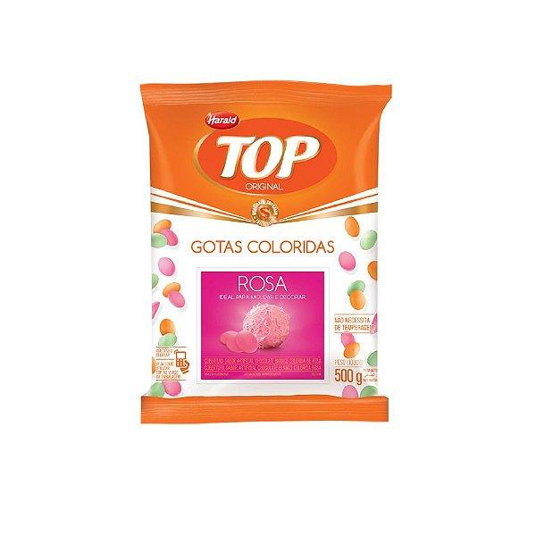 Chocolate Gotas Rosa Top 500grs Harald Rizzo Confeitaria