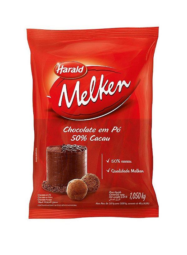 Chocolate em Pó Melken 50% - 1kg Harald Rizzo Confeitaria