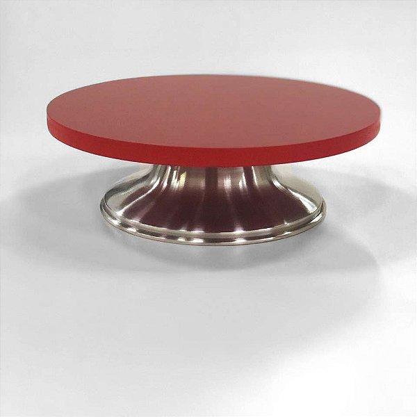 Bailarina / Prato Giratório Vermelho 30cm Caparroz Rizzo Confeitaria