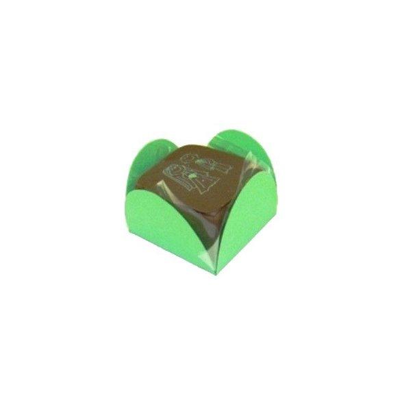 Forminha 4 Pétalas Verde com 50 un. Embalagens para Doces Rizzo Confeitaria