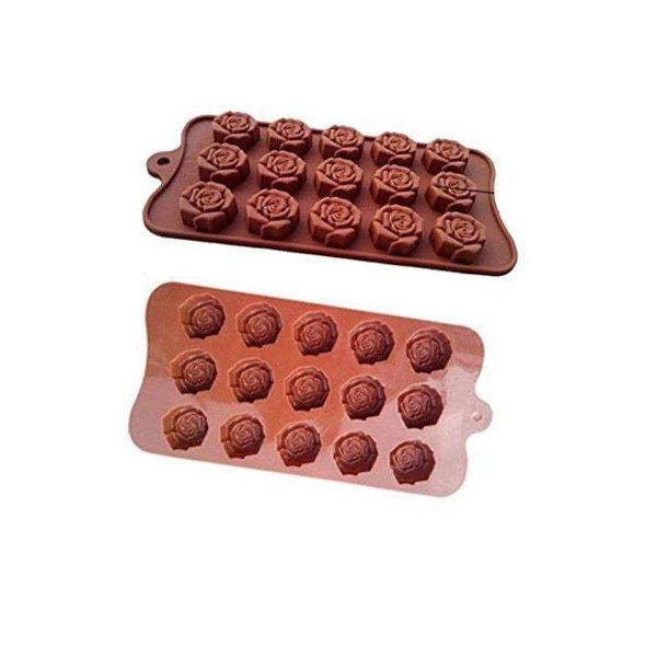 Forma de Silicone Pequena Rosa Le Chef Rizzo Confeitaria