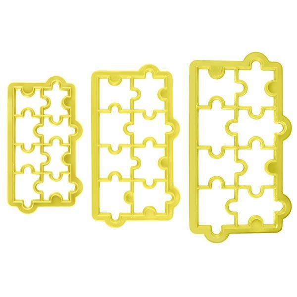 Cortador Geométrico Quebra Cabeça com 3 peças Blue Star Rizzo Confeitaria