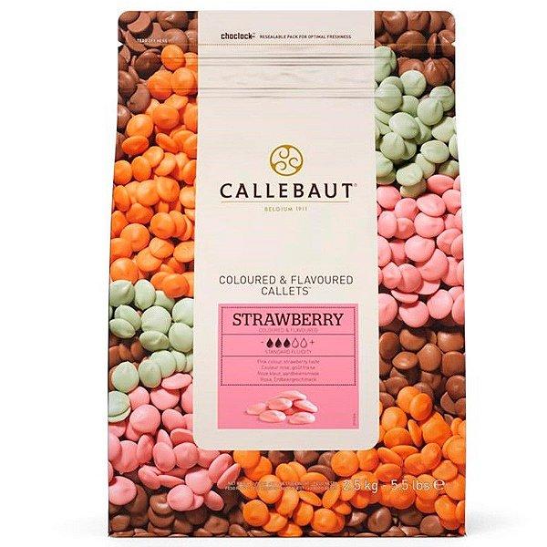Chocolate Callebaut Morango BR-U75 Gotas 2,5 kg Rizzo Confeitaria