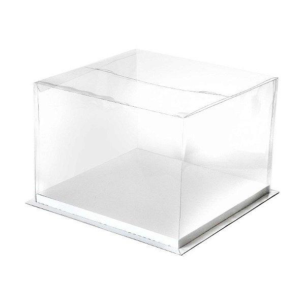 Caixa para Bolo Branca 24 cm Eluhe Rizzo Confeitaria