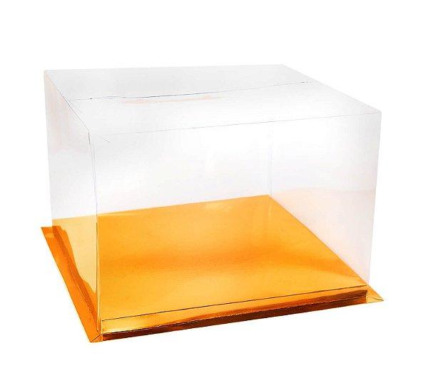 Caixa para Bolo Dourada 30 cm 1 un Eluhe Rizzo Confeitaria
