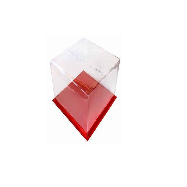 Caixa para Bolo Vermelha 16 cm Eluhe Rizzo Confeitaria