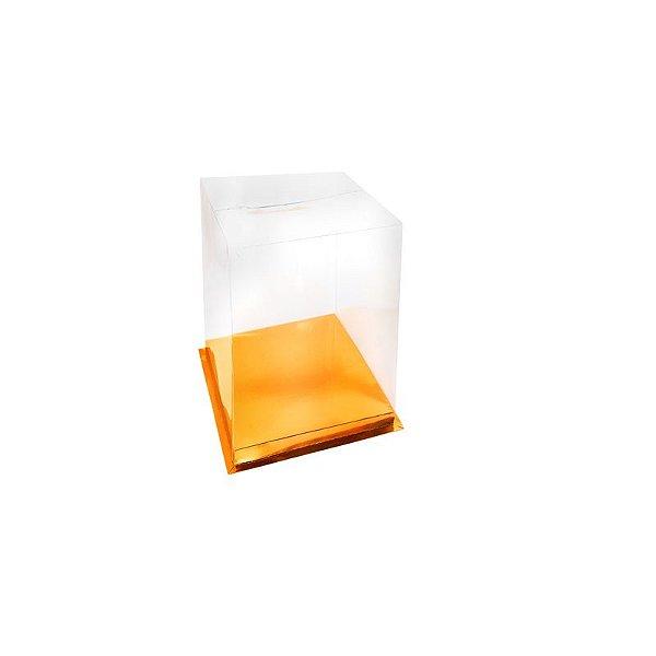 Caixa para Bolo Dourada 16 cm Eluhe Rizzo Confeitaria