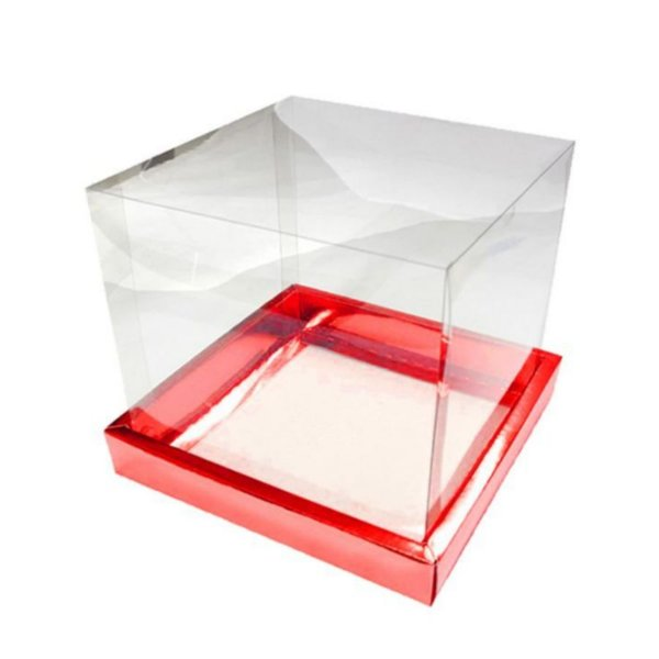 Caixa Panetone Vermelha 250G com 5 un. Assk Rizzo Confeitaria