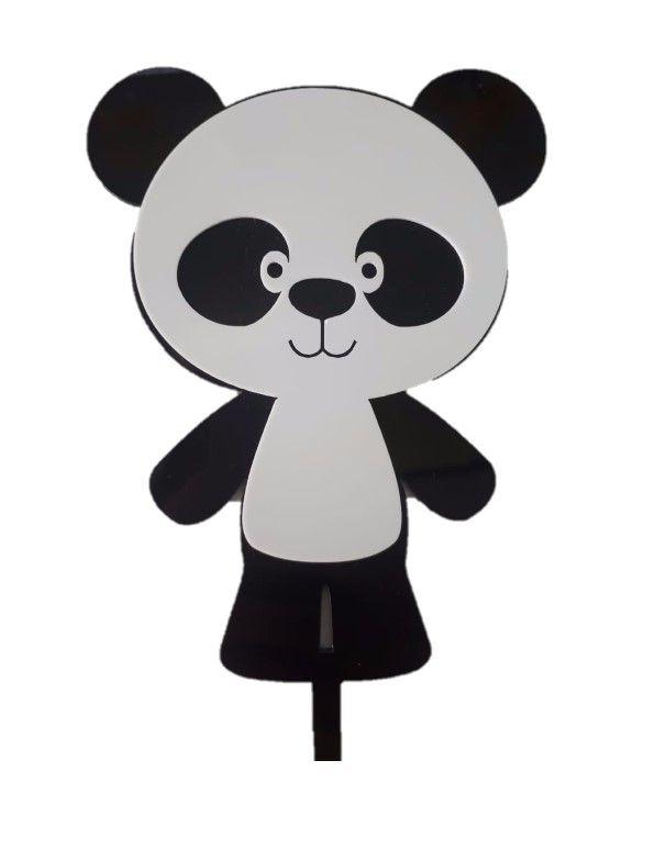 Topo de Bolo Panda Vivarte Rizzo Confeitaria