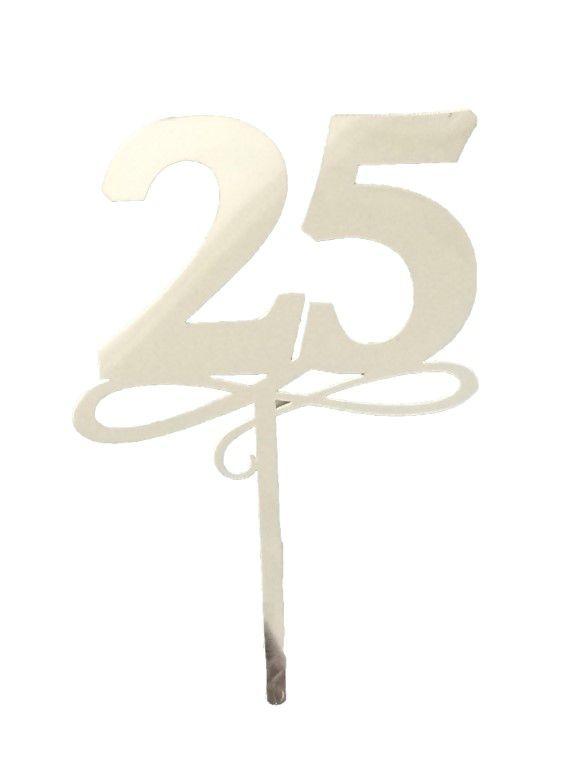 Topo de Bolo 25 Anos Vivarte Rizzo Confeitaria