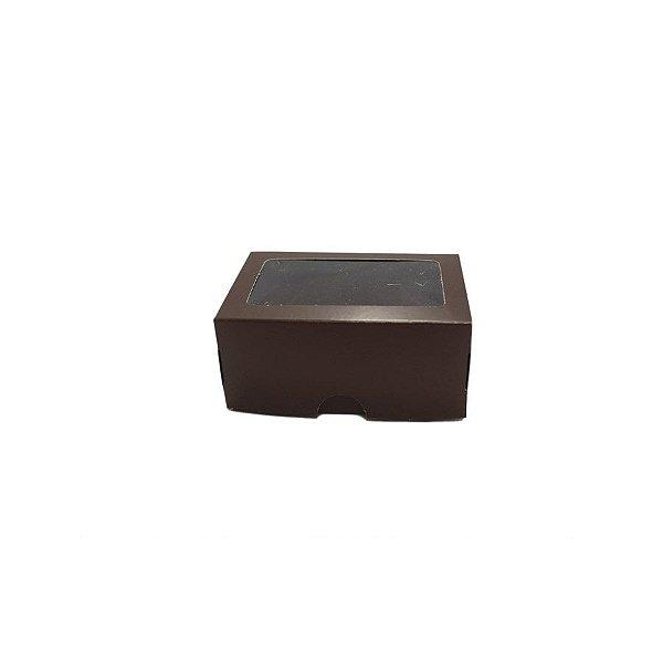 Caixa S16 Marrom com Visor 10 un.Assk Rizzo Confeitaria