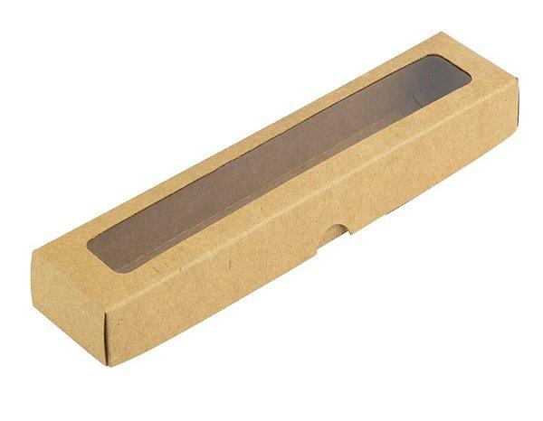 Caixa S14 Kraft com Visor 10 un. Assk Rizzo Confeitaria
