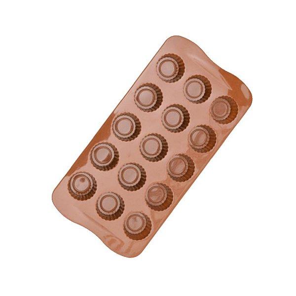 Forma de Silicone 15 cavidades Alpino Eco lumi Rizzo Confeitaria