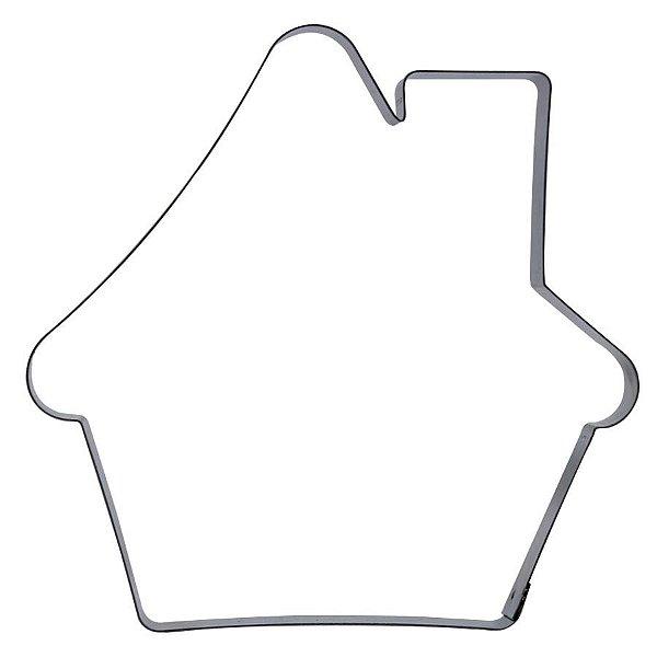 Cortador Casinha de Natal G Ref. 133 RR Cortadores Rizzo Confeitaria