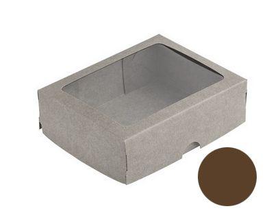Caixa S18 Marrom com Visor 10 un. Assk Rizzo Confeitaria