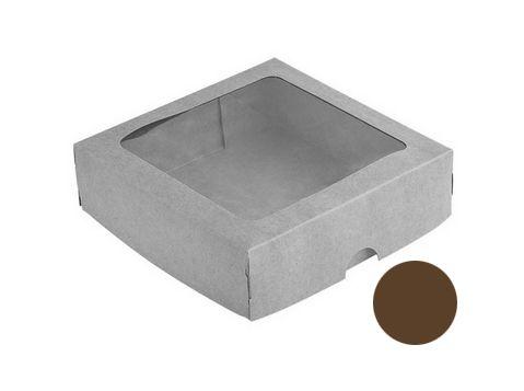 Caixa S3 Marrom com Visor 10 un. Assk Rizzo Confeitaria