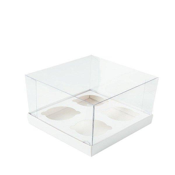 Caixa CupCake para 4 Branca 10 un. Assk Rizzo Confeitaria