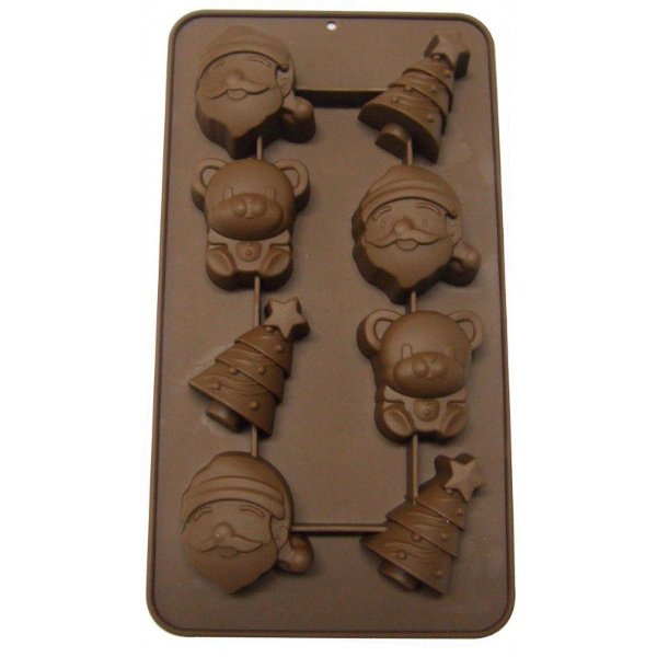 Molde de Silicone para Chocolate Natal Prime Chef Rizzo Confeitaria
