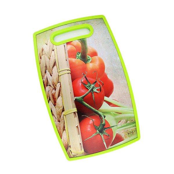 Tábua de Corte Cesto Tomates 36,5 x 22,5cm Clink Rizzo Confeitaria