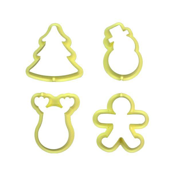 Cortador Natal I com 4 peças Blue Star Rizzo Confeitaria