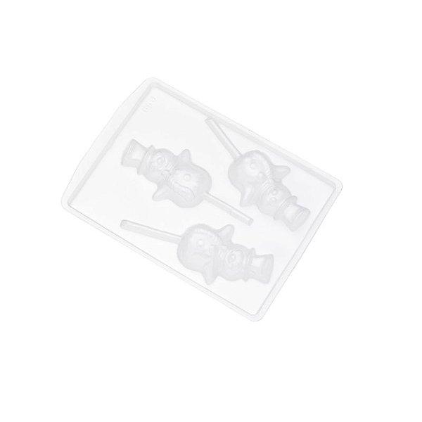 Forma de Acetato Pirulito Boneco de Neve Ref. 650 Crystal Rizzo Confeitaria