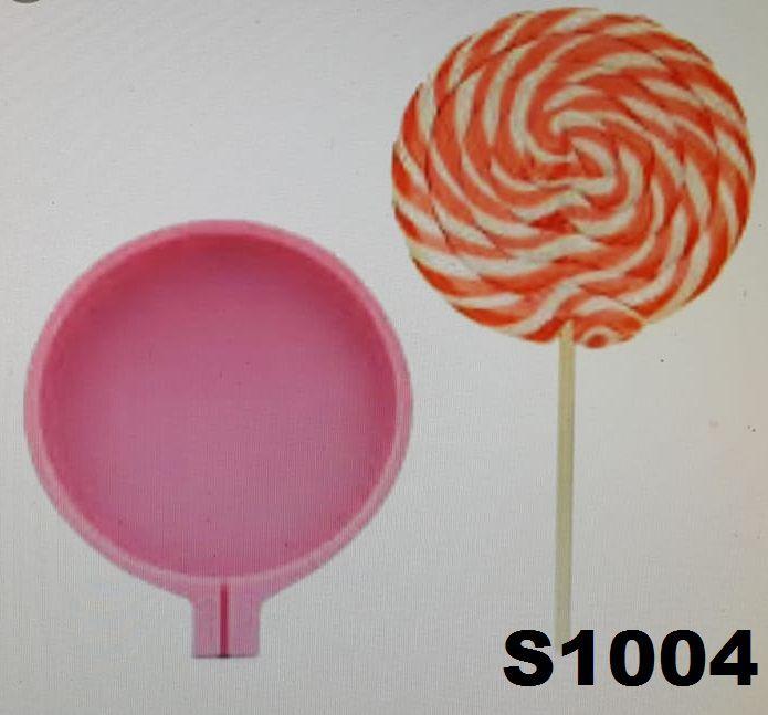 Molde de silicone Pirulito S1004 Molds Planet Rizzo Confeitaria