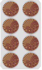 Blister Decorado com Transfer para Chocolate Bola de Natal 7cm BL0029 Stalden Rizzo Confeitaria