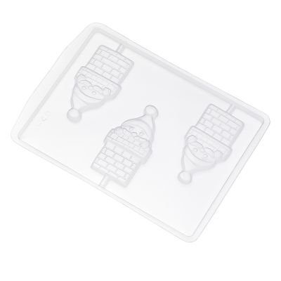 Forma de Acetato Noel Chaminé Pirulito Ref. 640 Crystal Rizzo Confeitaria