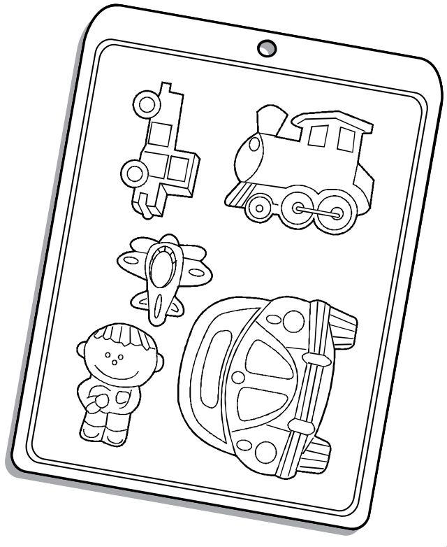 Forma de Acetato Brinquedos Meninos Mod. 1539 Crystal Rizzo Confeitaria