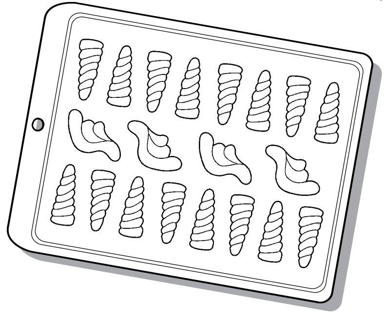 Forma de Acetato Chifre e Asa de Unicórnio Mod. 1542 Crystal Rizzo Confeitaria