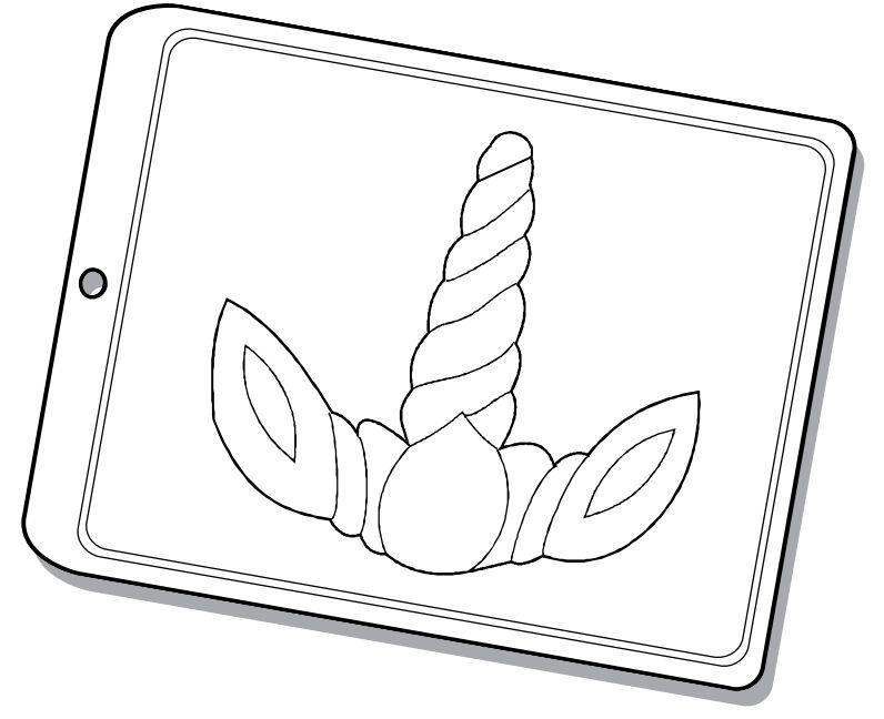 Forma de Acetato Chifre Unicórnio G Mod. 1544 Crystal Rizzo Confeitaria