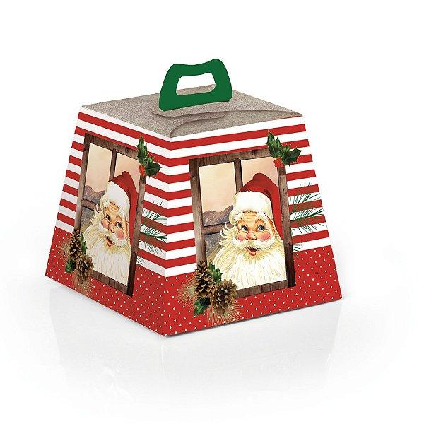 Caixa para Panetone 500g Natal Rústico 10 unidades Cromus Rizzo Confeitaria