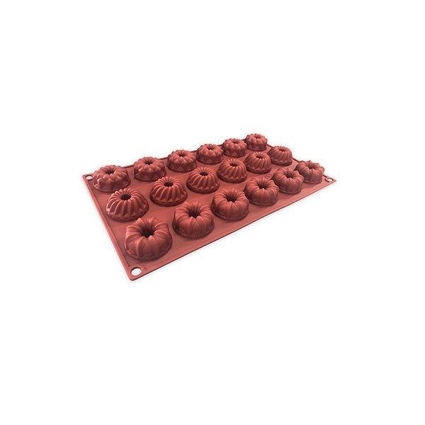 Forma de Silicone Chocolate Mini Bolo Rizzo Confeitaria