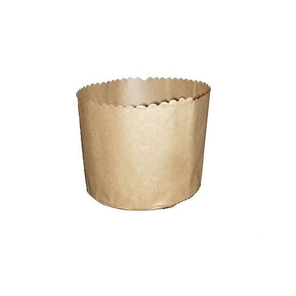 Forma para Panetone Kraft 500 g com 100 un. Top Line Rizzo Confeitaria