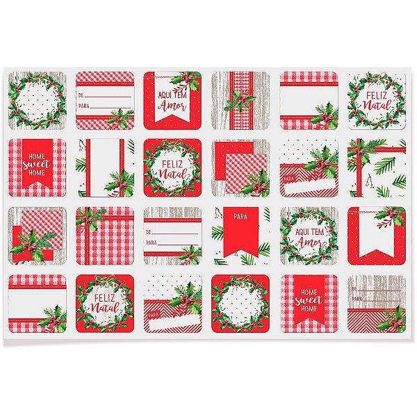Etiqueta para Decoração e Presente Natal Tradição 48 unidades Cromus Rizzo Confeitaria