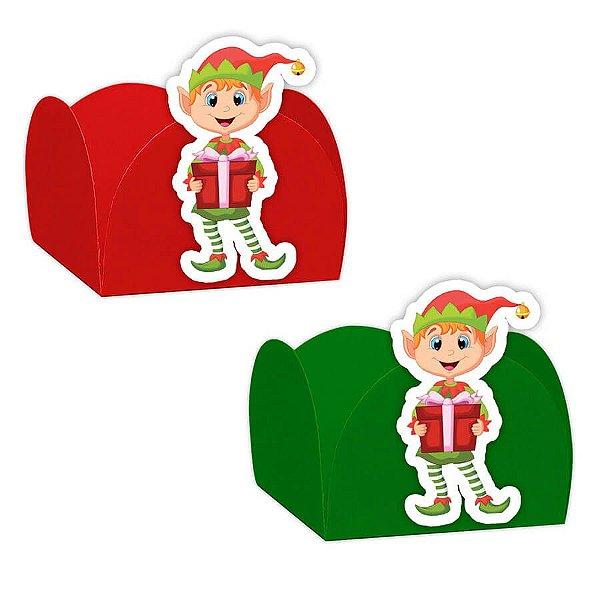 Forminha para Doces com Aplique Natal Duende 24 unidades Rizzo Confeitaria