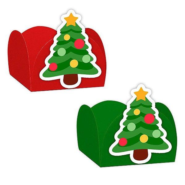 Forminha para Doces com Aplique Natal Árvore 24 unidades Rizzo Confeitaria