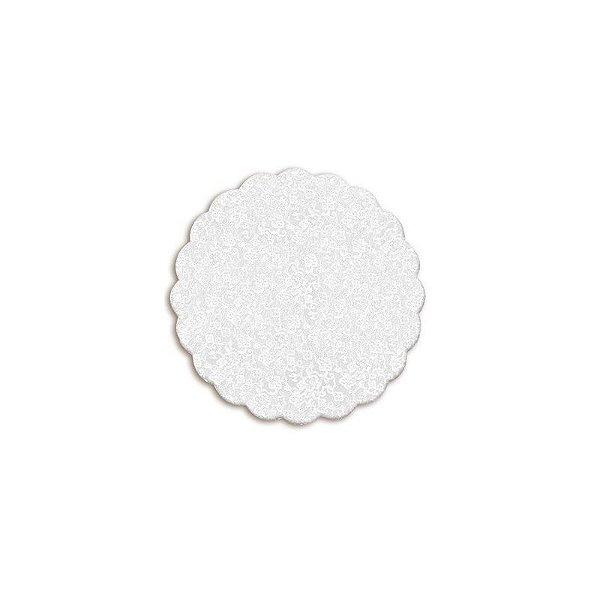 Tapetinho para Doces 7cm Branco Rendado com 100 un. Cromus Rizzo Confeitaria