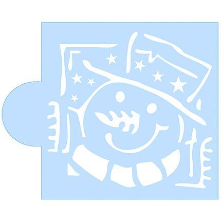 Stencil Boneco de Neve SCCN001 Litoarte Rizzo Confeitaria