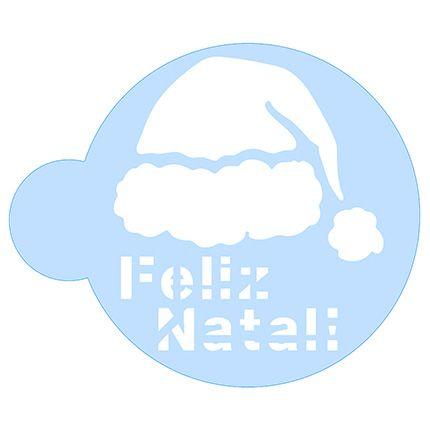 Stencil Gorro de Papai Noel SCCN016 Litoarte Rizzo Confeitaria