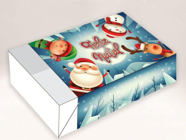 Caixa Divertida Natal Self. 6 doces com 10 un. Erika Melkot Rizzo Confeitaria