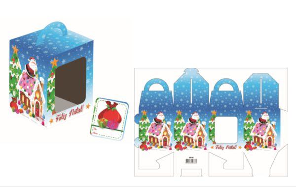 Caixa Mini Panetone Noel Confeiteiro com 3 un. Erika Melkot Rizzo Confeitaria